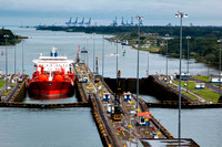 Ship entering Gatun locks