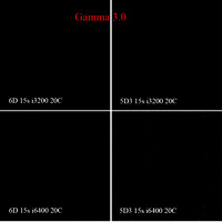 6D vs 5D3 15 sec Noise Comparison